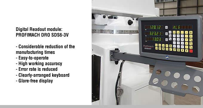 alfa metal machinery digital readout module profimach dro sds6-3v
