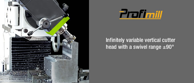 vertical cutter head with a swivel angle 90 degree