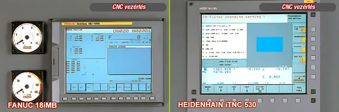cnc control fanuc 18iMB and Heidenhain Itnc 530