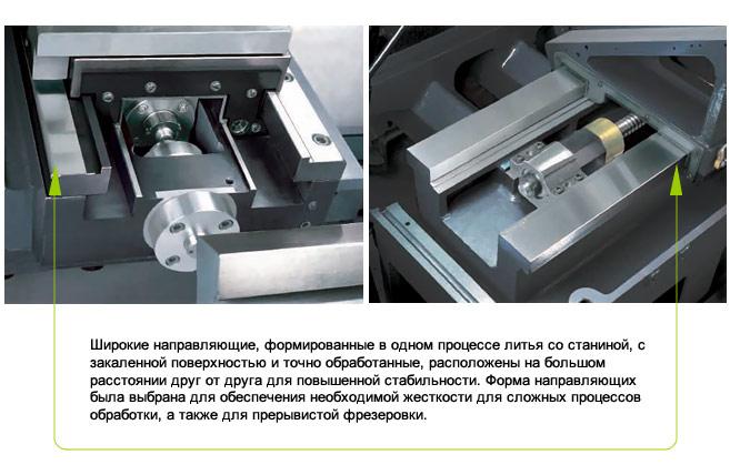 Extra wide, hardened and precision ground box ways - GA 3300