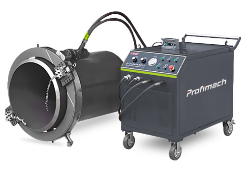 Portable Split Frame Pipe Cutting and Beveling Machines - profimach