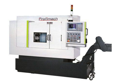 Both Ends Simultaneous Working CNC Lathe for Long Parts - profimach
