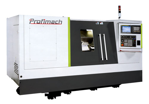 Twin Chuck Between Centers CNC Lathe for Long Parts - profimach