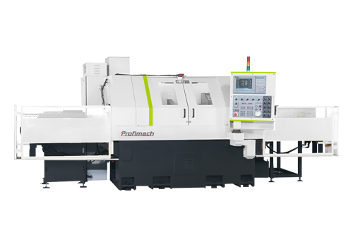 profimach CNC PTL E-100S Both Ends Simultaneous Working CNC Lathe for Long Parts